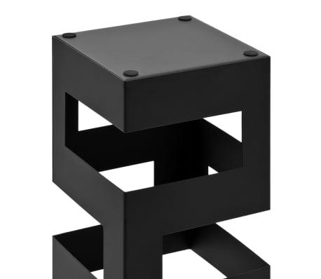 vidaXL Stojak na parasole, tetris , stalowy, czarny[4/5]