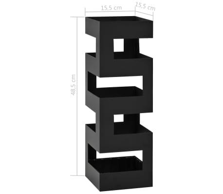 vidaXL Stojak na parasole, tetris , stalowy, czarny[5/5]