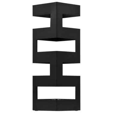 vidaXL Porte-parapluie Tetris Acier Noir[2/5]