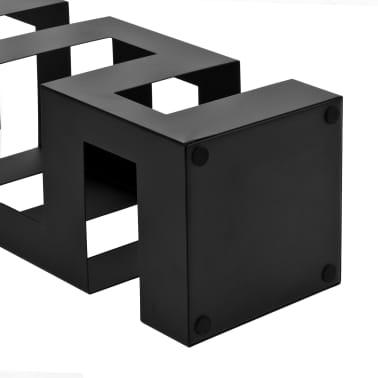 vidaXL Stojak na parasole, tetris , stalowy, czarny[3/5]