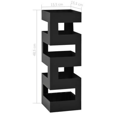 vidaXL Porte-parapluie Tetris Acier Noir[5/5]