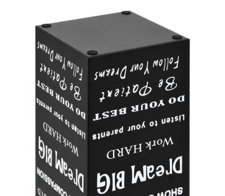 vidaXL Regenschirmständer Text-Design Stahl Schwarz[5/6]