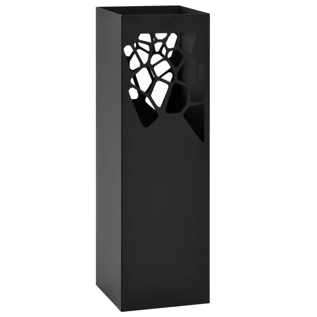 vidaXL Stojan na deštníky Stones ocelový černý
