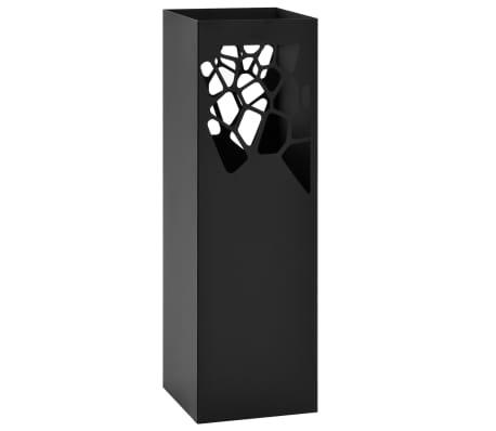 vidaXL Paraplyställ stenar stål svart