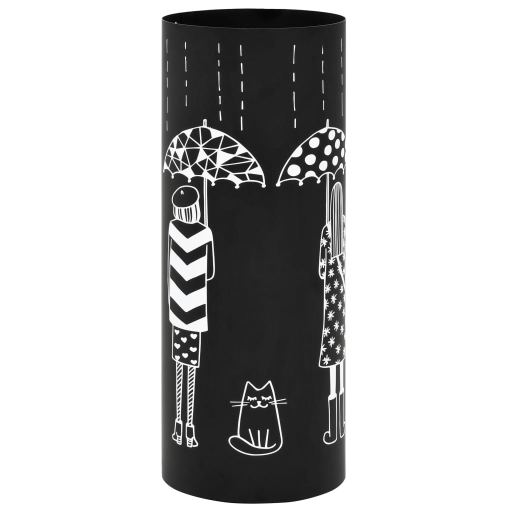 vidaXL Stojan na deštníky Women ocelový černý