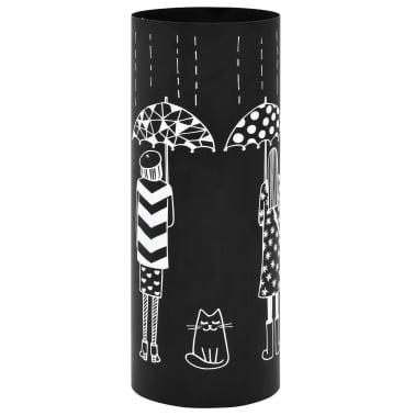 vidaXL Regenschirmständer Frauen-Design Stahl Schwarz[1/6]