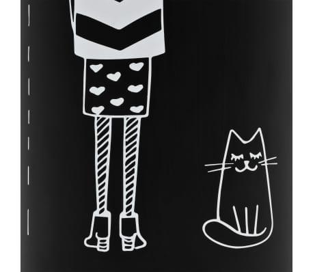 vidaXL Regenschirmständer Frauen-Design Stahl Schwarz[3/6]