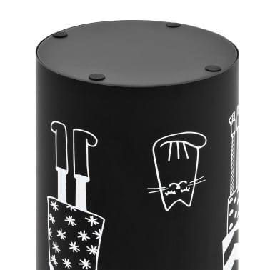 vidaXL Regenschirmständer Frauen-Design Stahl Schwarz[5/6]