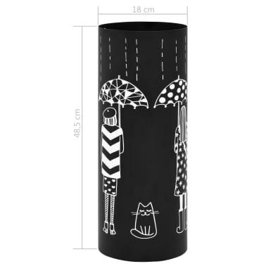 vidaXL Regenschirmständer Frauen-Design Stahl Schwarz[6/6]
