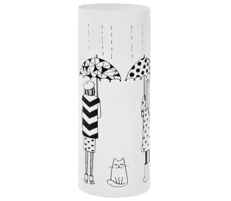 vidaXL Regenschirmständer Frauen-Design Stahl Weiß[1/6]