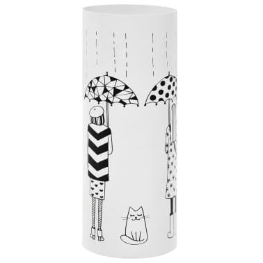 vidaXL Porte-parapluie Femmes Acier Blanc[1/6]