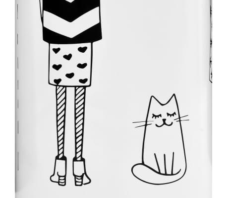 vidaXL Porte-parapluie Femmes Acier Blanc[3/6]