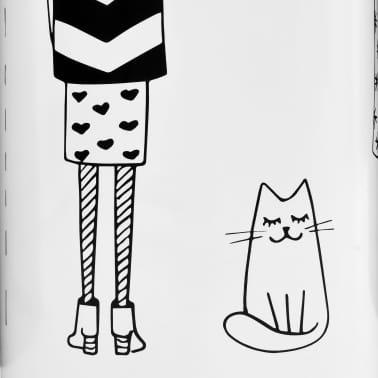vidaXL Regenschirmständer Frauen-Design Stahl Weiß[3/6]