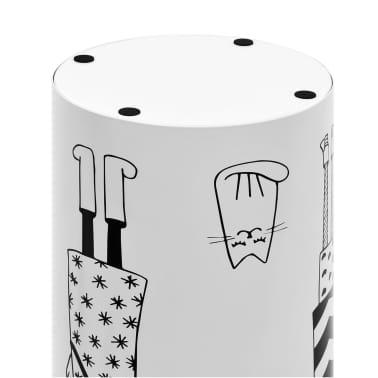 vidaXL Regenschirmständer Frauen-Design Stahl Weiß[5/6]