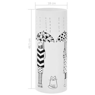 vidaXL Porte-parapluie Femmes Acier Blanc[6/6]