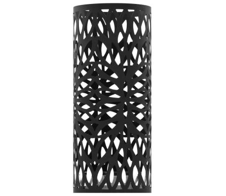 vidaXL Porte-parapluie Feuilles Acier Noir[2/5]