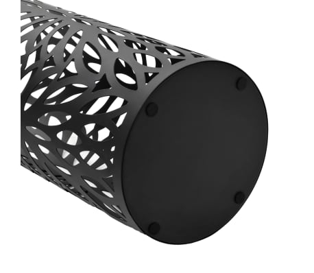vidaXL Porte-parapluie Feuilles Acier Noir[3/5]