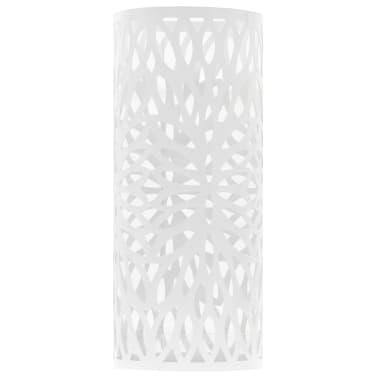 vidaXL Paragüero diseño de hojas acero blanco[2/5]