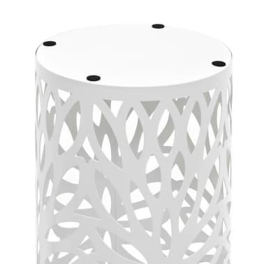 vidaXL Paragüero diseño de hojas acero blanco[3/5]