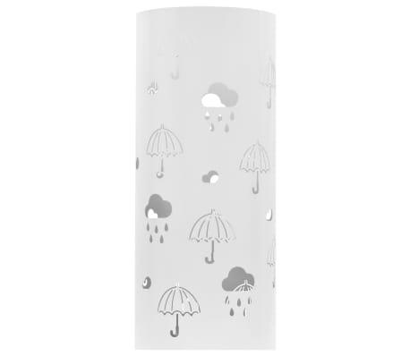 vidaXL Regenschirmständer Regenschirm-Motiv Stahl Weiß[2/6]