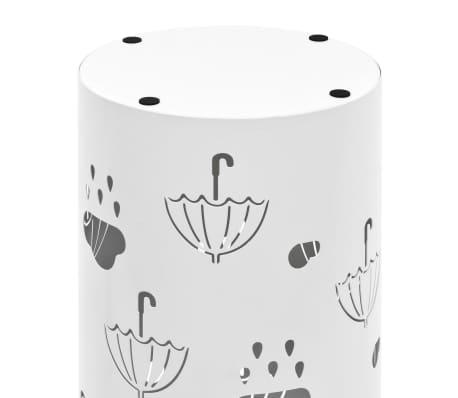 vidaXL Porte-parapluie Design Parapluies Acier Blanc[5/6]