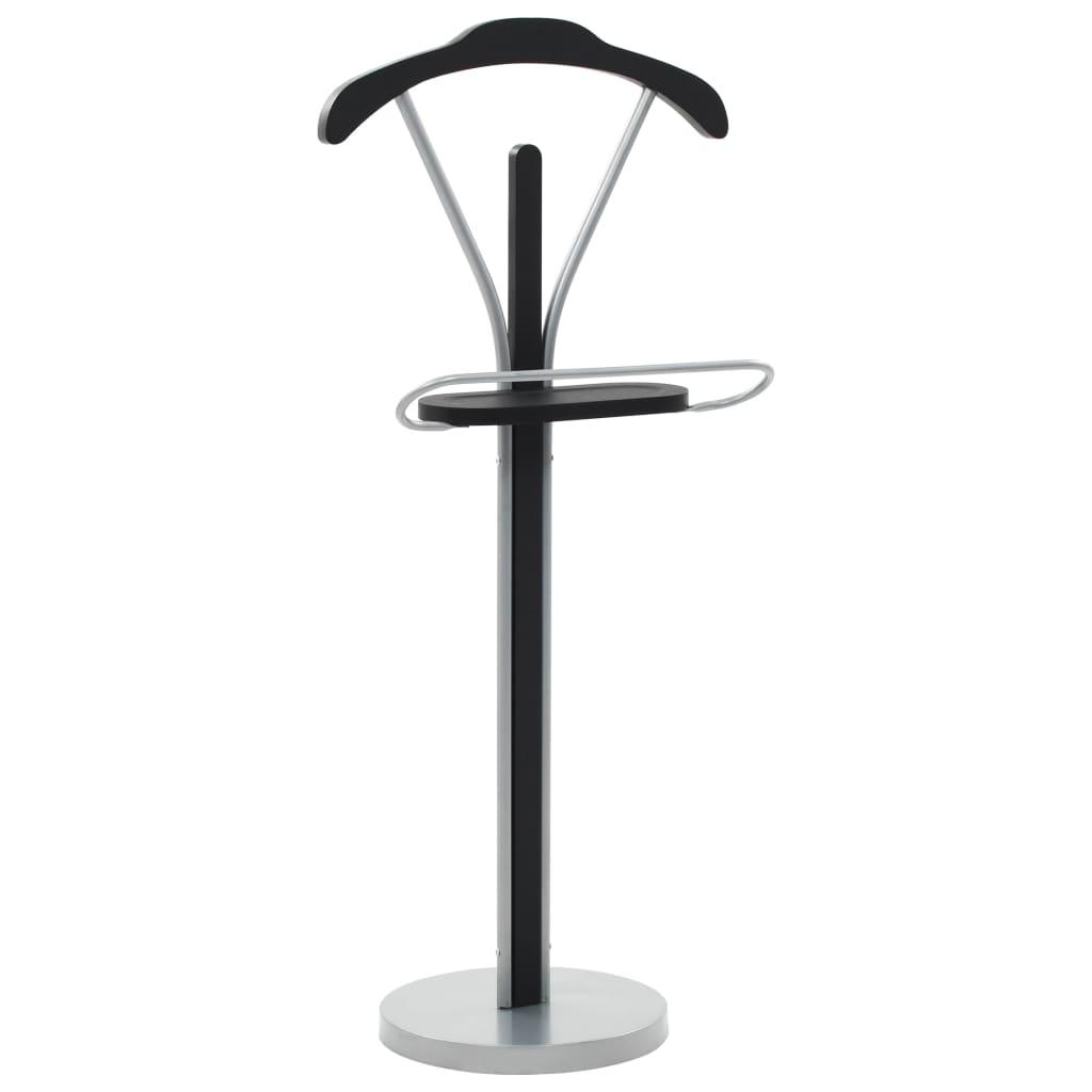 vidaXL Cuier pentru costum, negru și gri, 45 x 35 x 107 cm poza 2021 vidaXL