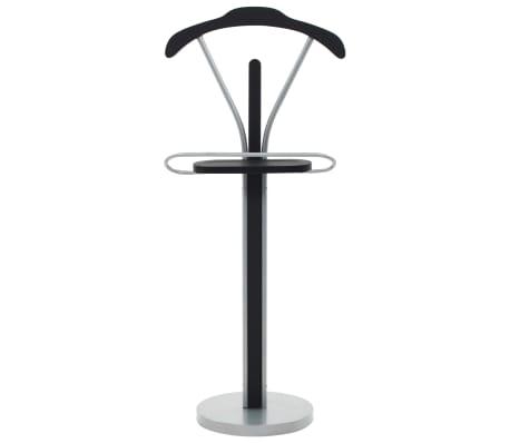 vidaXL Kostiumo kabykla, juodos ir pilkos spalvos, 45x35x107 cm[2/7]