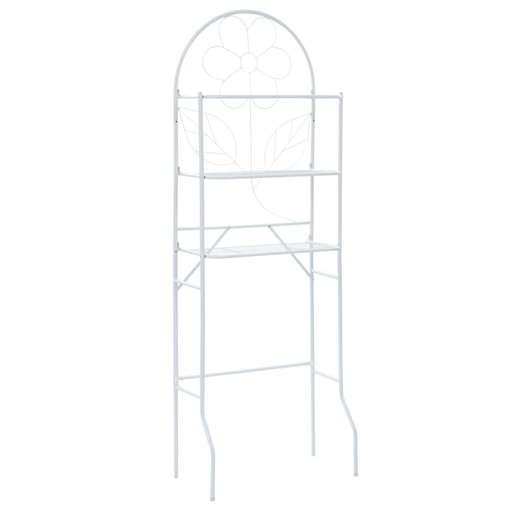 vidaXL Koupelnový regál bílý 60 x 33 x 174 cm