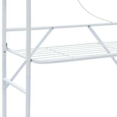 vidaXL Badezimmerregal Weiß 60 x 33 x 174 cm[6/7]