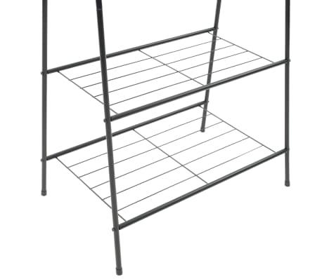 vidaXL Wieszak na ubrania, 59 x 35 x 150 cm, czarny[4/5]