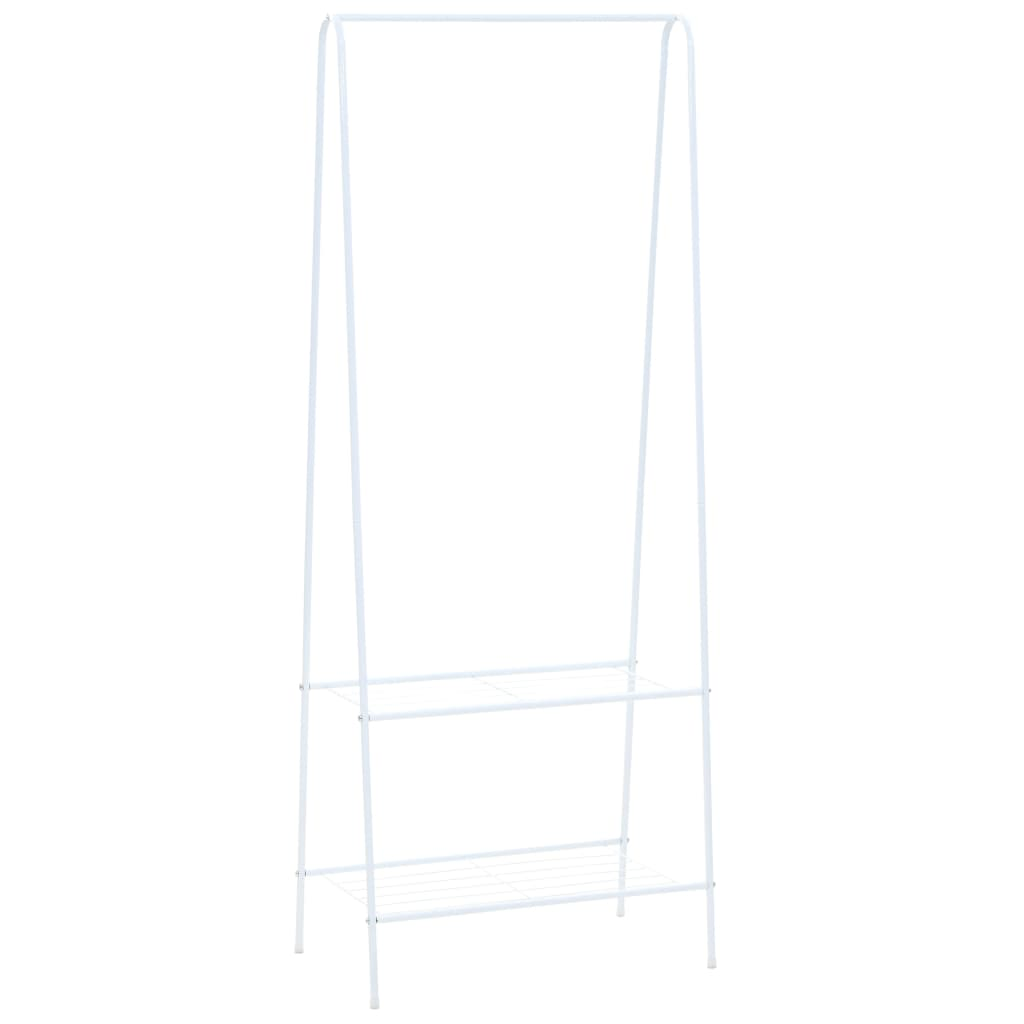 vidaXL Cuier de haine, 59 x 35 x 150 cm, alb poza 2021 vidaXL