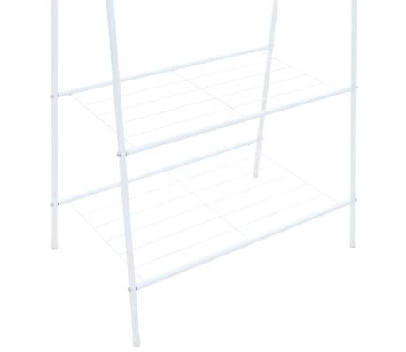 vidaXL Perchero de ropa 59x35x150 cm blanco[4/5]
