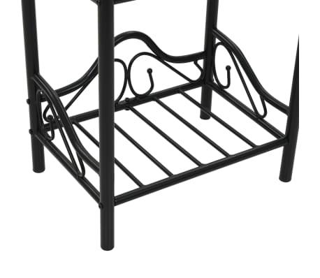 vidaXL Nakt. staliukas, plien. ir grūd. stikl., 45x30,5x60cm, juodas[7/8]