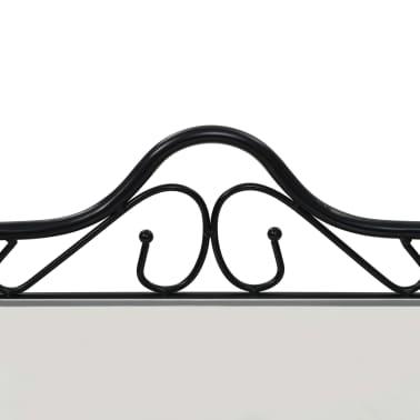 vidaXL Nakt. staliukas, plien. ir grūd. stikl., 45x30,5x60cm, juodas[5/8]