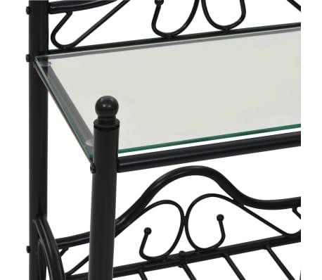 vidaXL Nakt. stal., 2vnt., plien. ir grūd. stikl., 45x30,5x60cm, juodi[7/9]