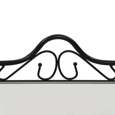 vidaXL Noptiere 2 buc, oțel și sticlă călită, 45 x 30,5 x 60 cm, negru[6/9]