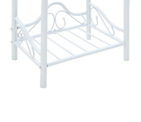 vidaXL Noptieră, oțel și sticlă securizată, 45 x 30,5 x 60 cm, alb[7/8]