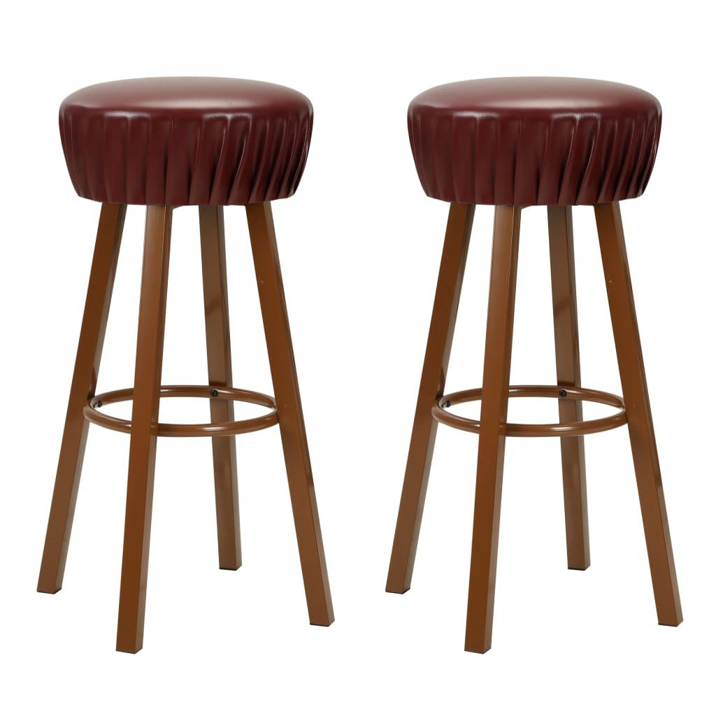 vidaXL Barové židle s čalouněním z umělé kůže 2 ks hnědé