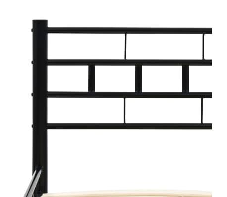 vidaXL Lovos rėmas, juodos spalvos, 140x200 cm, metalas[5/7]