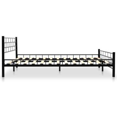 vidaXL Lovos rėmas, juodos spalvos, 140x200 cm, metalas[3/7]
