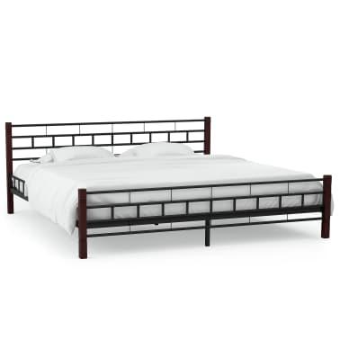 vidaXL Cadru de pat, negru, 180 x 200 cm, metal[2/7]