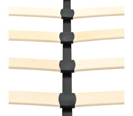 vidaXL Cadru de pat, negru, 180 x 200 cm, metal[7/7]