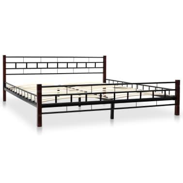 vidaXL Cadru de pat, negru, 180 x 200 cm, metal[3/7]