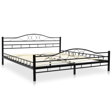 vidaxl metallbett mit lattenrost 180 x 200 cm. Black Bedroom Furniture Sets. Home Design Ideas
