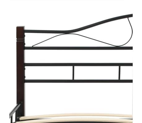 vidaxl metallbett mit lattenrost 180 x 200 cm zum. Black Bedroom Furniture Sets. Home Design Ideas