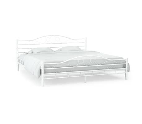 vidaxl metallbett mit lattenrost 140x200 cm geschwungenes. Black Bedroom Furniture Sets. Home Design Ideas