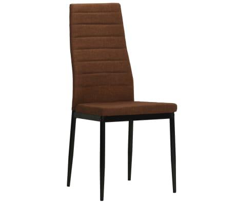 vidaXL Eetkamerstoelen 2 st stof bruin[2/8]