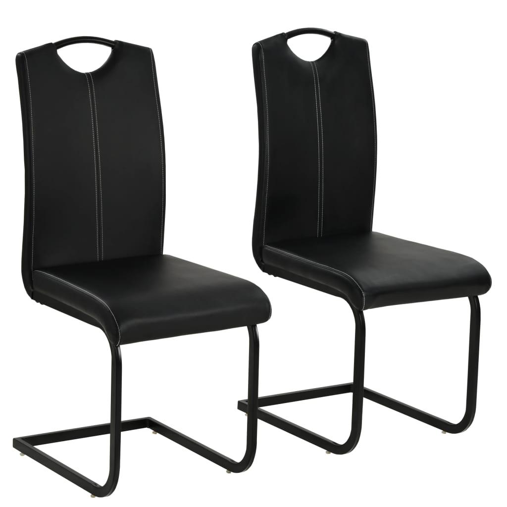 vidaXL Jídelní židle 2 ks z umělé kůže 43 x 55 x 100 cm černé