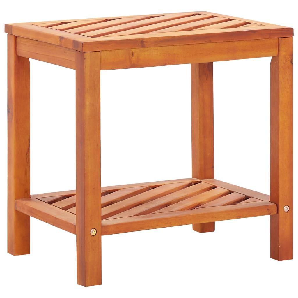 vidaXL Stolik boczny z litego drewna akacjowego, 45 x 33 x 45 cm