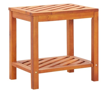 "vidaXL Side Table Solid Acacia Wood 17.7""x13""x17.7"""
